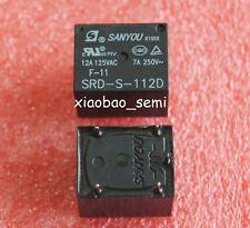 5pcs New 12VDC SANYOU SRD-S-112D 12A 125VAC Power Relay 5pin