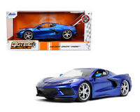 JADA 1:24 2020 BLUE CHEVROLET CORVETTE STINGRAY C8 DIECAST CAR MODEL 32537