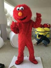 Sesame Street Red Elmo Monster Mascot Costume Cartoon Fancy Dress Professional