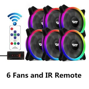 Gaming Computer Cooling Fan Set With RGB Light 120mm Computer Cooler Case Fans