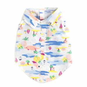 THE WORTHY DOG Scenic Hawaiian Print Shirt 100% Cotton Sizes XS-XXL