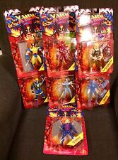 X-MEN INVASION SERIES TOY BIZ 1995 COMPLETE SET OF 7 FIGURES MOC SPIRAL ERIK