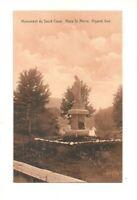 MONUMENT DU SACRE COEUR, PLACE ST. PIERRE, RIGAUD QUEBEC CANADA VINTAGE POSTCARD