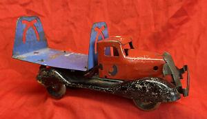 wyandotte Clockwork Pressed Steel Tipper Lorry Very Rare Working 31cm Long