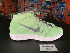 390e66277aab DS Nike Lunar Flyknit Chukka Wolf Grey Electric Green Size 10.5 100%  Authentic