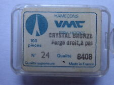 VMC quality fish hooks crystal bronze size 24 box of 100 spade end