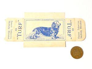 Original Carreras Turf Brand Card Famous Dog Breeds No. 18 Dachshund w/Tabs