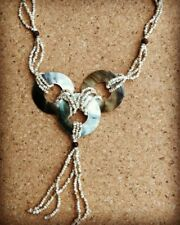 Shell Necklace 3 Circles with Tiny Beads Handmade in Bali Indonesia Fair Trade