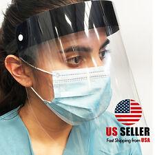 Black Safety Full Face Shield Reusable Washable Protection Face Mask Anti-Splash