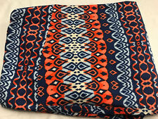 Lularoe orange coral navy sky blue shapes pattern Print TC Legings Plus Size