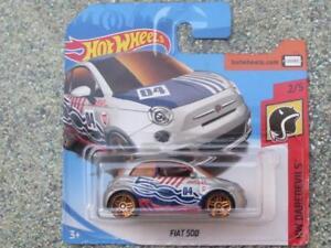 Hot Wheels 2018 #000/365 FIAT 500 silver HW Daredevils CaseP