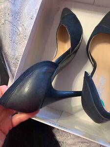 Nine West Womens Stiletto Black/Blue  Dress Heels Shoes 8 Medium New