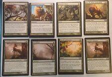 Lot de 8 cartes M13 Vertes MISPRINT - MISCUT Off-center - 8 cards - Mtg Magic