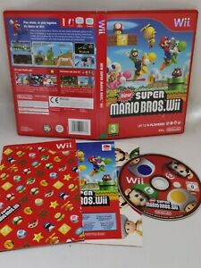 New Super Mario Bros Wii Nintendo Video Game Complete With Manual
