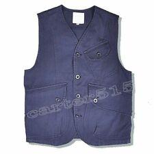 Retro Mens Casual Cargo Cotton Blend Multi Pockets Waistcoat Vest Jacket Outdoor