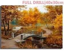US Full Drill Autumn City Park 5D Diamond Painting Embroidery Cross Stitch Kit