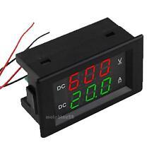 """0.39"""" Dual LED Digital DC600V 20A Voltmeter Ammeter Voltage Amps Power Meter"""