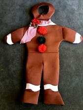 GINGERBREAD MAN HALLOWEEN COSTUME RASTA IMPOSTA ONE SIZE PADDED FOAM CHRISTMAS