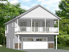 24x30 House -- 1 Bedroom 1.5 Bath -- 830 sq ft -- PDF Floor Plan -- Model 7C