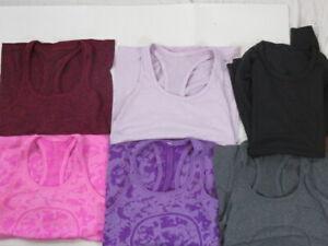 Lot of 6 Lululemon Activewear Tops Size 4