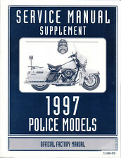 1997 Harley FLHTP FLHP/I Police Road King Service Repair Manual Supplement