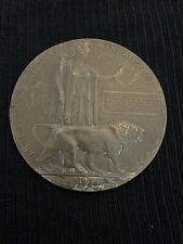 """WW1 DEATH PLAQUE """"Stephen George Longhurst"""" HE DIED FOR FREEDOM AND HONOUR"""