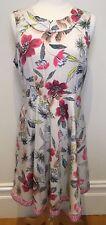 WALLIS UK Designer Pretty Spring Flower Print Sleeveless Lined Shift Dress 10