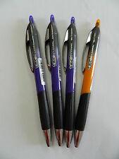 4 x Penna colorata a sfera a scatto BIC 537RT 3 Viola 1 Arancione R280