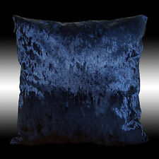 SHINY SMOOTH NAVY BLUE THICK SOFT VELVET THROW PILLOW CASE CUSHION COVER 17""