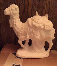 """White Ceramic Bisque Ready to Paint Nativity Standing Leg Up Camel 11""""x9""""x7"""""""