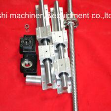 1PC Ballscrew Ball Screws RM1605-370mm-C7+1 Set BK/BF12+Coupling+SBR20-370mm set