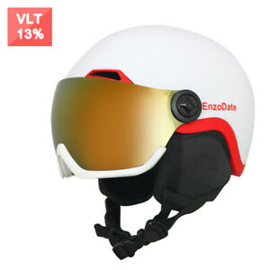 Snowboard Helmet with Integrated Goggles Shield 2 in 1 Ski Snow Helmets
