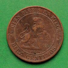 1870 Spain 10 Centimos SNo42143