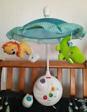 Fisher Price Baby  Cot Mobile with Projector & remot control RARE