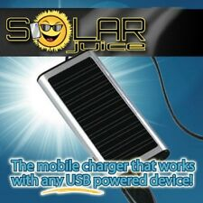"""Solar Juice"", Universal Solar-powered cell phone, and mobile device charger"