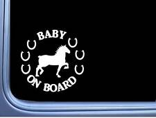 Draft Horse Baby On Board Sticker L751 6 inch rescue decal