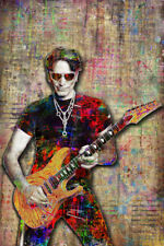 Steve Vai Pop Art 12x18in Poster Steve Vai Guitarist Tribute Print Free Shipping