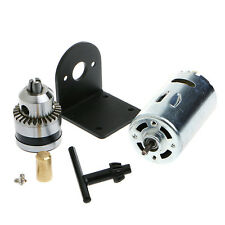 "12-36V Hand Drill DIY Lathe Press 555 Motor w/ 1/8"" Chuck+ Mounting Bracket"