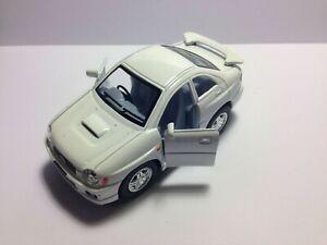 Kinsfun 2002 White Subaru Impreza WRX Sedan  Car Diecast