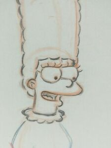 Marge Simpson Cartoon Drawing Studio Production Art Sketch The Simpsons Animated
