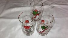 Holly Hobbie Christmas Drinking Glasses Vintage 3 Coca-Cola Limited Addition Ec