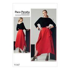 Vogue Designerschnitt V1567, PACO PERALTA , Top + Rock, Gr. 14-22 (Gr. 40 - 48)