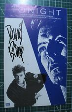 "Vintage Original 1984 David Bowie Poster Tonight New Single 10""x16"" Scarce"