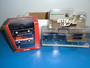 GREENLIGHT DODGE 3 TRUCK LOT..HITCH & TOW CHASE...MOPAR