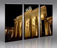 Brandenburger Tor 3 Bilder Bild von Berlin auf Leinwand Wandbild Poster