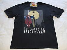 Marvel Comics Spiderman Mens Black Printed Short Sleeve T Shirt Size 3XL New