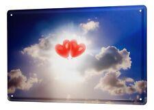 Tin Sign Nostalgic Heart sky clouds