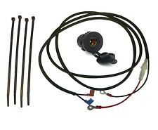 """12V Accessory Socket (DIN/Hella type - 37mm) with 2m (79"""") Loom - (Glass Fuse)"""
