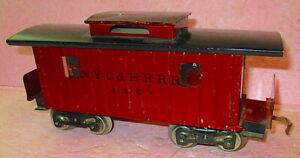 Lionel #117 prewar Caboose NYC&HRRR #4351 Maroon & Black Standard Gauge LIGHTED