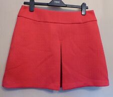 Warehouse Uk14 Eu42 Us10 Bright Pink Formed Jacquard Pleated Front Skirt